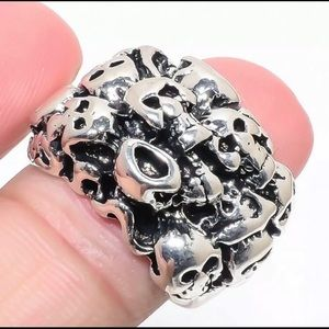 cc9873dd5b0b Jewelry - Stainless Steel Skull Cluster Ring Size 10 1 2